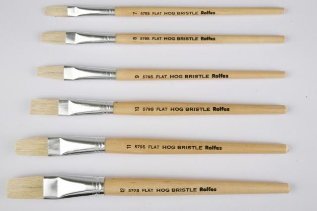 Rolfes flat hog hair paint brush size 10