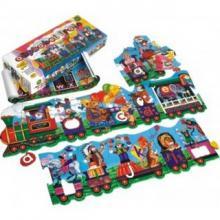 Smile Alphabet Train Floor Puzzle