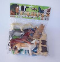 Large plastic farm animals